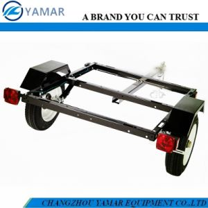 Black Powder Coated Utility Trailer (40in. X48in. Bed) pictures & photos