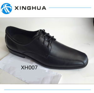 Black Leather Office Shoes for Men pictures & photos