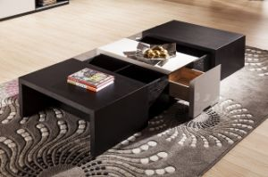 Modern Style Functional Wooden Coffee Table (CJ-2032) pictures & photos