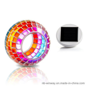 Solar Glass Mosaic Night Light pictures & photos