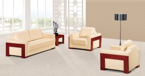 Italy Design Classic Wooden Office Furniture Leather Office Sofa (NS-D8011) pictures & photos