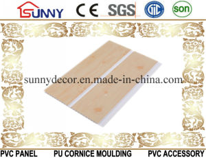 One Groove Wooden Color PVC Ceiling Panels, Plastic Wall Panel, Cielo Raso De PVC pictures & photos