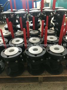 Carbon Steel Mounting Pad Flanged Ball Valve pictures & photos