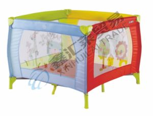 En716 Approved Polychrome Portable Baby Playpen pictures & photos