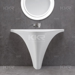 Sanitary Ware Resin Stone Bathroom Freestanding Wash Basin pictures & photos