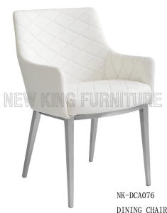 Luxury Simple White Leather Stackable Stainless Steel Dining Chair (NK-DCA073) pictures & photos