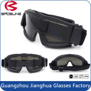 TPU Frame Tactical Military Goggles Bulletproof Army with Elastic Band pictures & photos