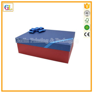 Custom Embossed Logo Rigid Cardboard Gift Box with Lid pictures & photos