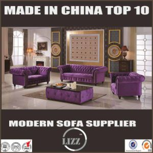 New Chesterfield Sofa Set with Fabric Leather pictures & photos