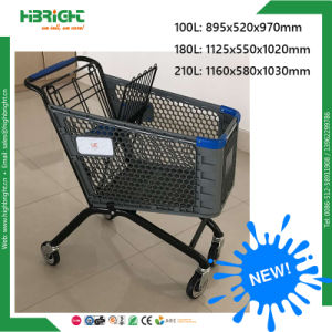 New Style Europe Shape Grocery Plastic Trolley Cart pictures & photos