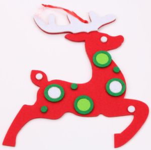 OEM New Product Christmas Felt Reindeer Hang Decoration pictures & photos