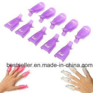 Lowest Price 10PC Plastic Nail Art Soak off Cap Clip UV Gel Polish Gel Nail Polish Remover Wrap pictures & photos