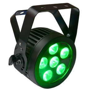 6X12W RGBWA UV Stage Light Mini Compact Slim LED PAR with Powercon pictures & photos