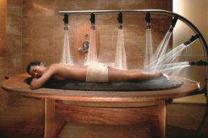 Stainless Steel Water Shower Wooden SPA Massage Bed pictures & photos