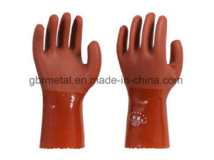 New Style PVC Oil Resistant Gloves Work Gloves 980 pictures & photos