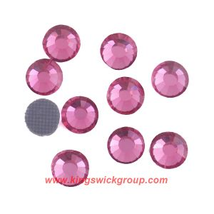 High Quality Ss30 Rose Glue Back Korean Unleaded Crystal Hotfix Rhinestone pictures & photos