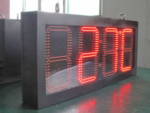 Red LED Clock Sign & LED Temperature Sign (HH: MM) pictures & photos