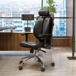 Ergonomic Hight Back PU Leather Office Chair with Twin Backrest pictures & photos