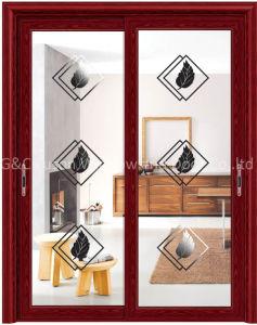 Durable Alumnium Brief Sliding Patio Door (6710) pictures & photos
