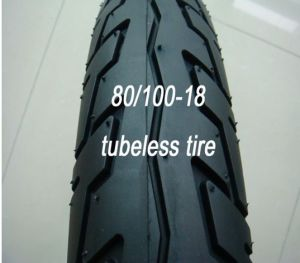 Motorcycle Tubeless Tire 80/100-18 pictures & photos