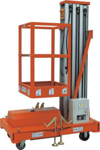 6m Semi-Electric Aerial Work Platform (AWP6-1000) pictures & photos