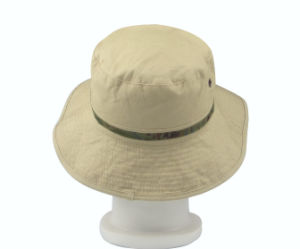 Canvas Farbic Unisex Outdoor Bucket Cap Fishman Hat pictures & photos