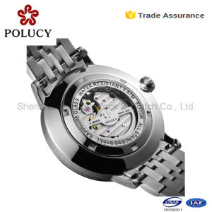 Wholesale Automatic Mechanical Gold Men Skeleton Stainless Steel Imported Watches pictures & photos