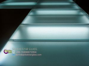 Acid Etched Anti-Slip Glass for Floor, Stairs pictures & photos
