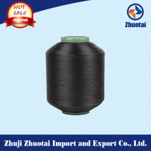 4070/24f High Quality Nylon Spandex Wrapped Black Yarn pictures & photos