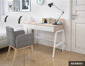 Modern Simple Study Desk for Student with Wide Wooden Laptop Table in Office Room pictures & photos