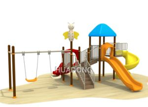 Hot Sale Kids Plastic Outdoor Preschool Playground Equipment (HD-120A) pictures & photos
