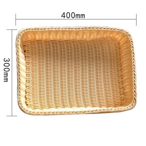 Guangzhou Factory Wholesale Handmade Wicker Baskets for Storage Bread and Fruits and Vegetable