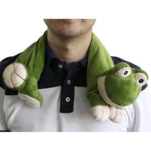 Hot Cold Ice Gel Pack for Pain Relief Beneficial to Human Body Health Animal Frog Neck Pillow (p20091)