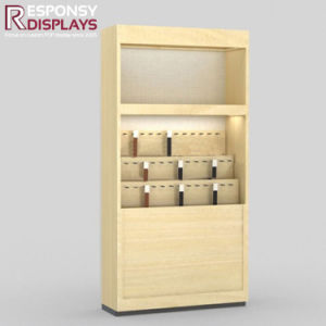 Customized Floor Wood Belt Display Rack Accessories Display Stand with Wheels pictures & photos