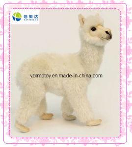 White Lifelike Alpaca Plush Stuffed Toy pictures & photos