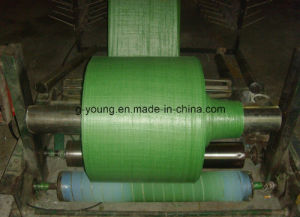 Green PP Woven Tubular Fabric in Roll pictures & photos