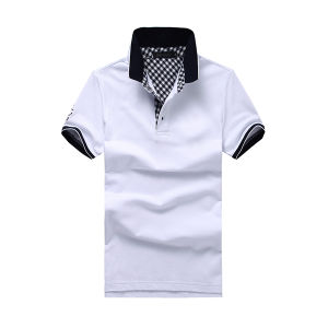 Embroidery China Short Sleeve 100% Cotton Polo T-Shirt pictures & photos