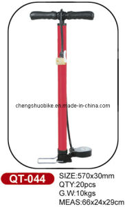 Fashion Design Bike Pump Qt-044 with Hydraulic Pressure Gauge pictures & photos