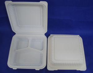 9inch Biodegradable Clamshell Lunch Box pictures & photos