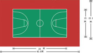 PVC Flooring for Sports Using 3.5mm*1.5m*20m/Roll pictures & photos