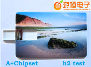 Business Card USB Flash Drive with Full Printing (OM-P507) pictures & photos