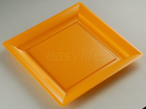 Easylife S092322 9′′ (23cm) Square Plate PS Orange pictures & photos
