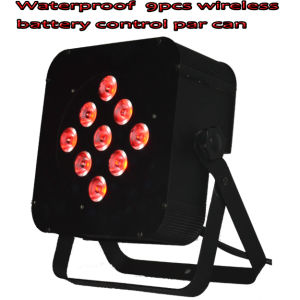 Waterproof Wireless &Battery &DMX Control Kibetic Lighting 9PCS 10W 4in1 LED PAR Light pictures & photos
