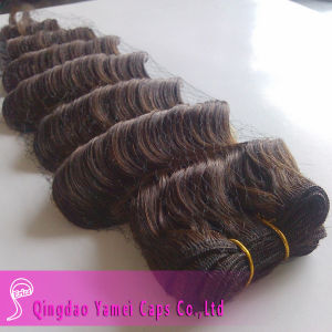 Deep Wave Dark Brown Indian Human Hair Weft (YM-KHW022)