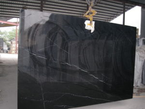 Polished/Flamed/Honed/Bush-Hammered/Swan-Cut/Natural/Pineapple /Nero Marquina Tile/Black Marquina Marble for Slabs/Tiles/Composite/Countertopsvanity Tops pictures & photos
