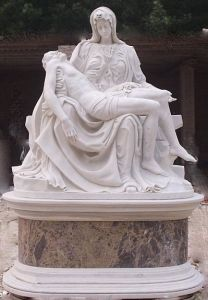 White Marble Sculpture Pieta