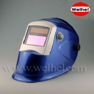 Solar Powered Auto-Darkening Welding Helmet (WH8511 Blue) pictures & photos