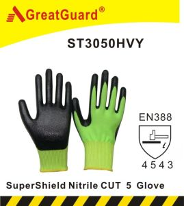 Greatguard Supershield Nitrile Cut 5 Glove (ST3050HVY) pictures & photos