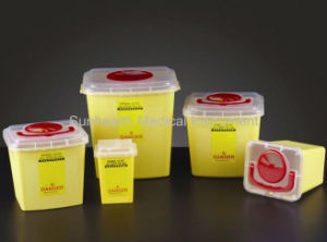 Disposable Hospital Plastic Medical Sharp Container/Dustbin