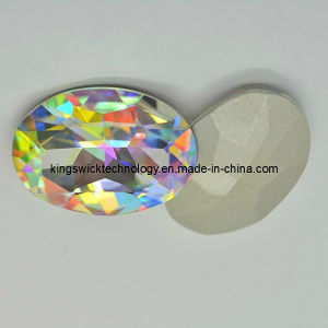 13X18mm Oval Clear Ab Point Back Rhinestones pictures & photos